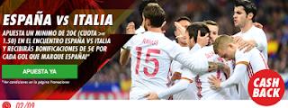 circus promocion 5 euros gol españa contra italia 2 septiembre