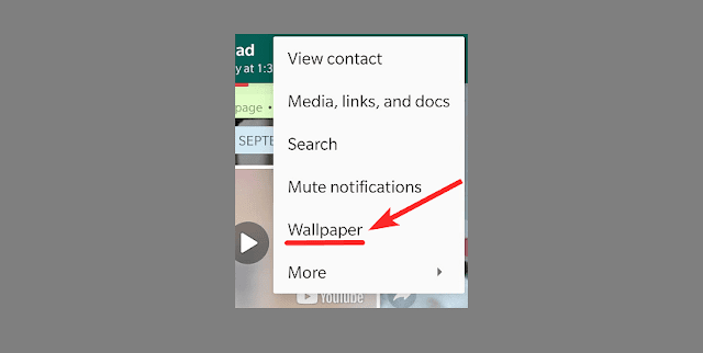 How to set custom WhatsApp wallpaper for individual chats