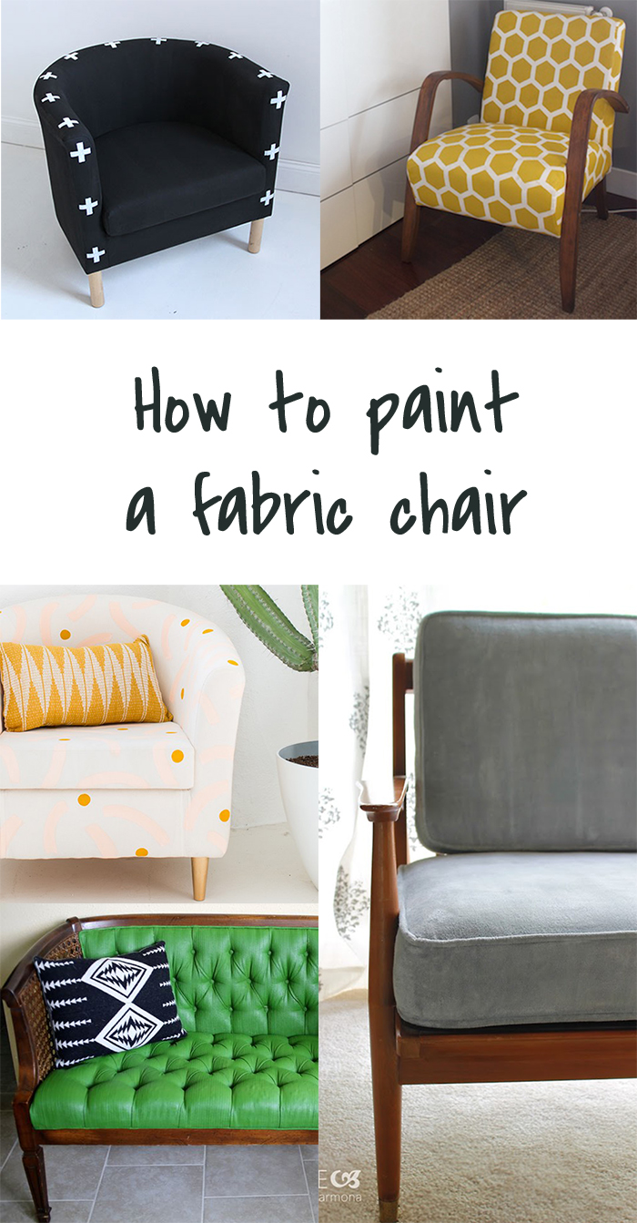 5 diy to try painting upholstery ohoh blog. Black Bedroom Furniture Sets. Home Design Ideas