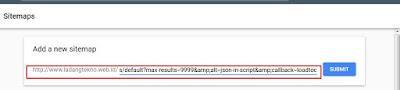 menambahkan url sitemap