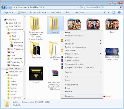 Cara Mengganti Icon Folder Dengan Gambar di Windows 7