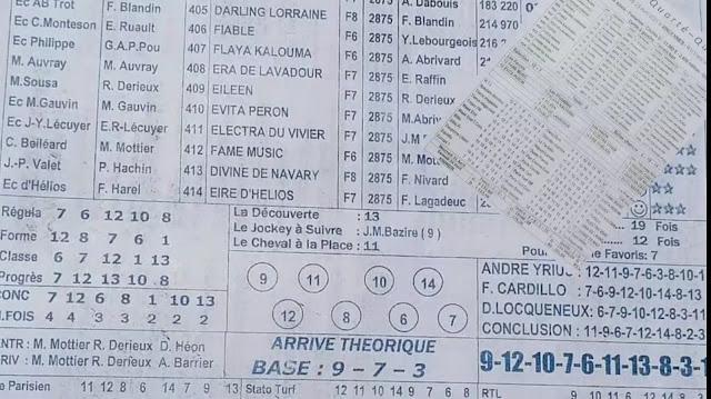 programe quinté+ pronostic Tiercé Vendredi 23/04/2021