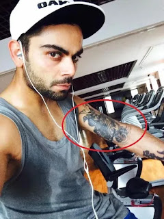 Virat Kohli Tattos pic