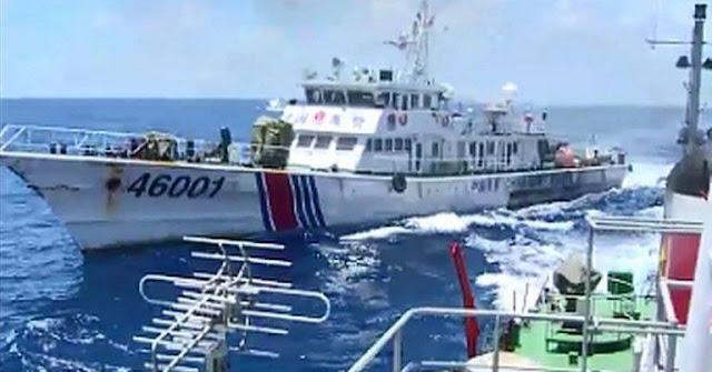 """Tàu hải cảnh Trung Quốc rượt đuổi tàu cá Nhật Bản và cái kết """"nhục nhã"""""""