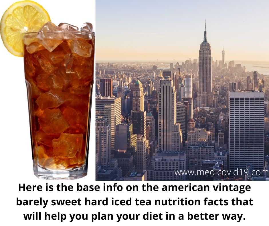 American Vintage Barely Sweet Hard Iced Tea Nutrition Facts