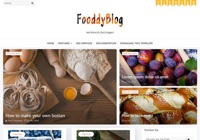 Template Blog Kuliner Foody Responsive