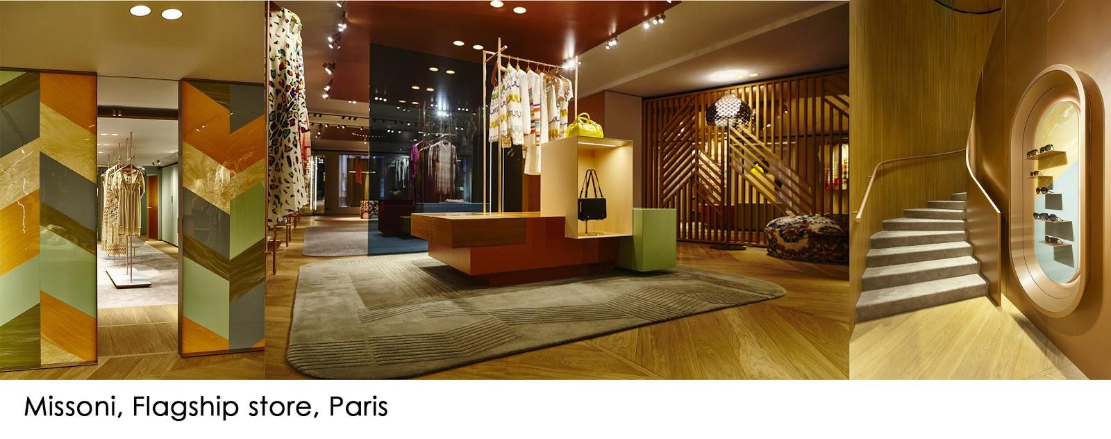 01dde1f37265 Patricia Urquiola ha sfruttato le texture ed i temi grafici ricorrenti  della griffe per il progetto di questa boutique parigina di circa 300 metri  quadrati ...