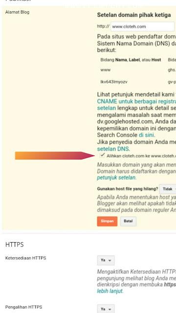 Mengalihkan domain ke WWW