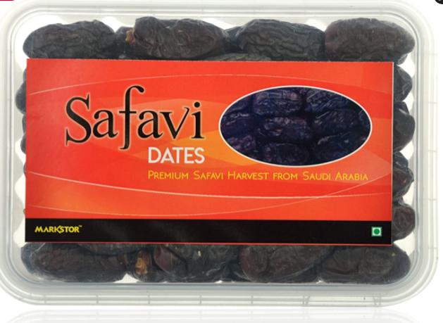 Markstor Safavi Dates - Premium Safavi (Kalmi) Harvest from Saudi Arabia - 500 Grams (with Seeds)