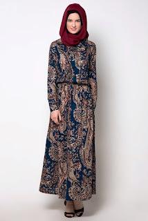 Model Baju Gamis Kombinasi Batik Dan Sifon