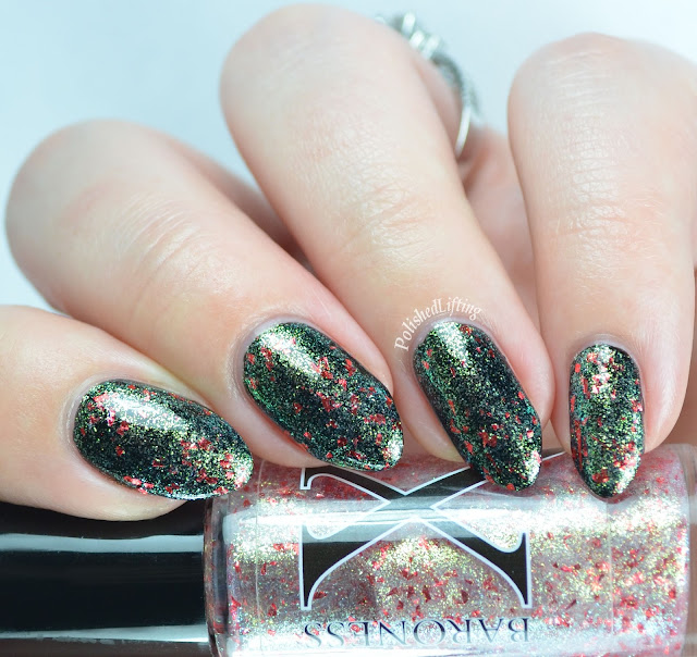 Baroness X Dynastic over Orly Liquid Vinyl