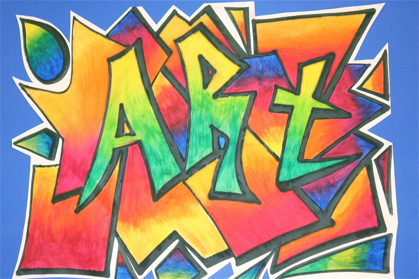 Name Art: Splish Splash Splatter: Graffiti Art