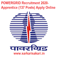 POWERGRID Recruitment 2020- Apprentice (137 Posts) Apply Online