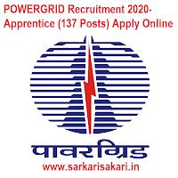 POWERGRID Recruitment 2020- Apprentice (137 Posts) Apply Online