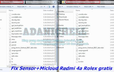 Fix Sensor+Micloud Redmi 4a Rolex Free