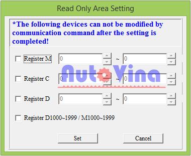 Read Only Area Setting khóa vùng nhớ trong PLC Delta