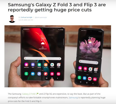 Galaxy Z Fold 3, Samsung, Z Flip 3, Which One is Cheaper