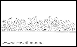 Flower border design draw/embroidery saree design drawings/hand embroidery flowers border design images free download.