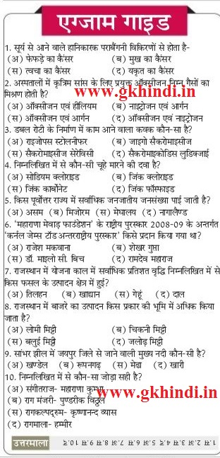 Gk in Hindi PDF Download | General Knowledge in Hindi PDF Samanya Gyan 2016