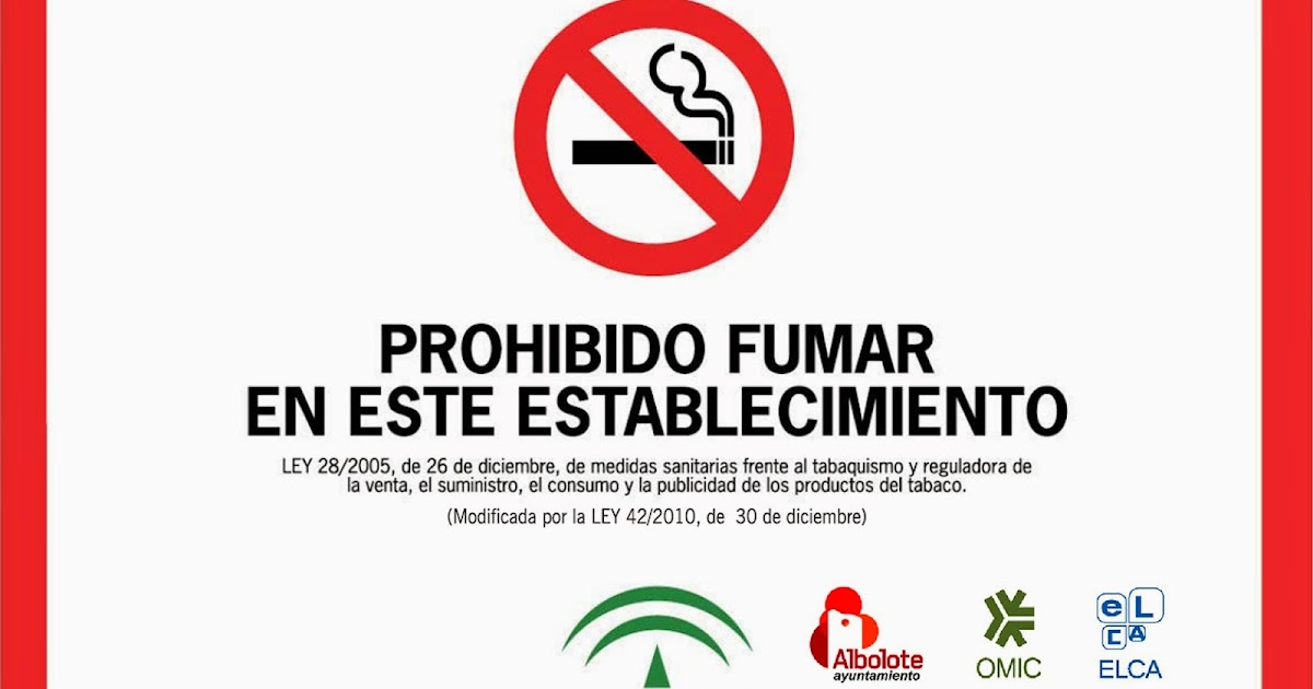 Señalización Obligatoria De 'Prohibido Fumar'