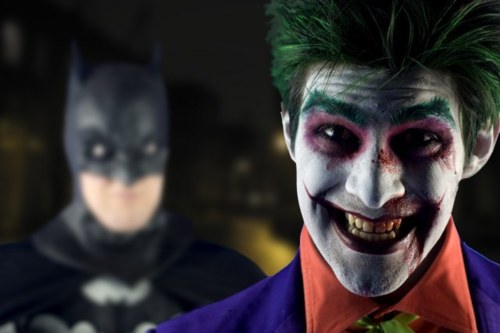 Joker and Batman cosplay