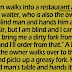 A blind man has a funny way of ordering his food