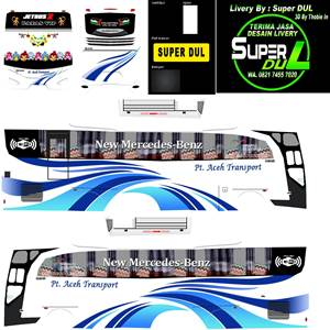livery bussid hd sumatera pt aceh transport