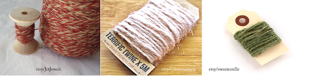 Various hemp twine for wrapping gifts