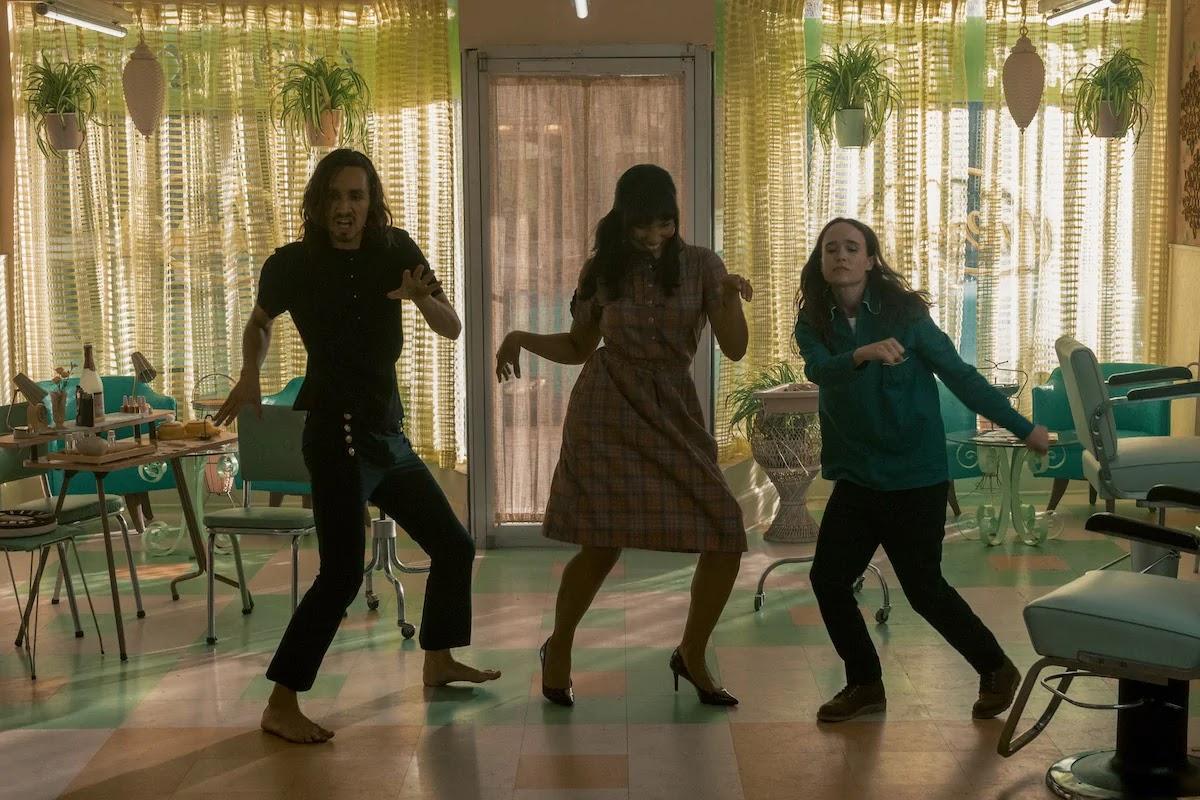 umbrella academy sezon 2 klaus vanya alisson taniec