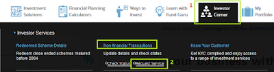 SBI Mutual Fund-Change Contact Details