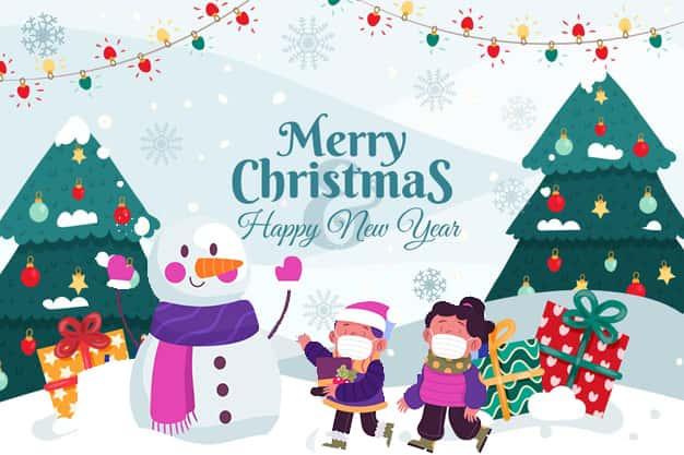 wallpaper ucapan selamat natal dan tahun baru 2021