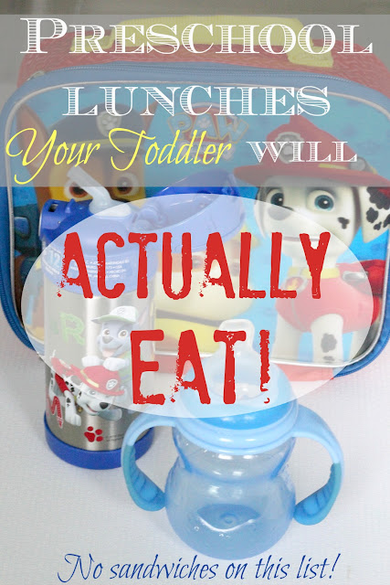 This post rounds up 4 great, healthy lunch options to pack your child for preschool that he or she will actually eat - not just throw on the floor!