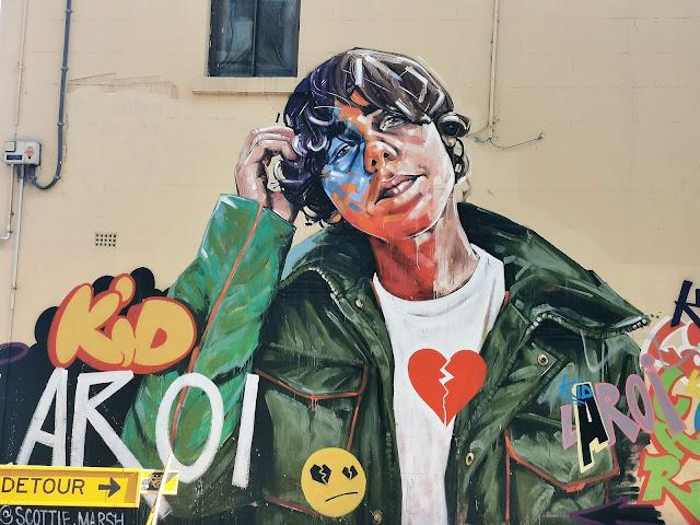 Alexandria Street Art   Mural of Kid Laroi by Scott Marsh