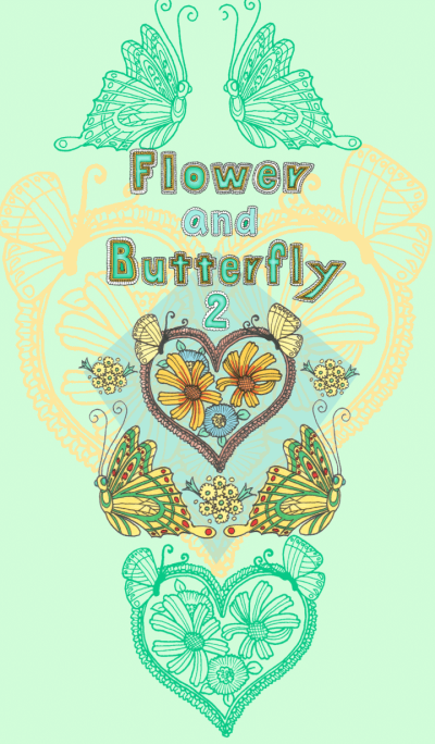 Flower and butterfly2