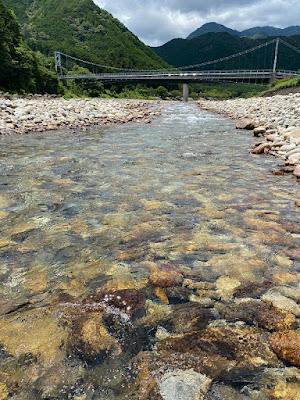 銚子川の浅瀬
