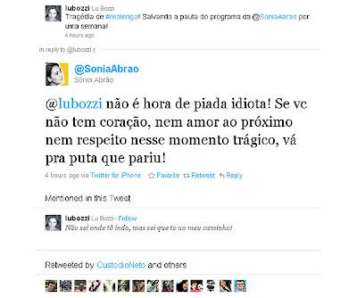 No Twitter, Sonia Abrão não gosta de comentário e xinga internauta - LondrinaTur
