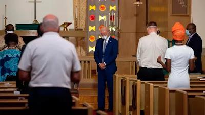 Biden in church