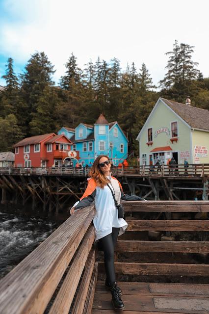 Alicia Mara at Creek Street in Ketchikan | Travel Guide