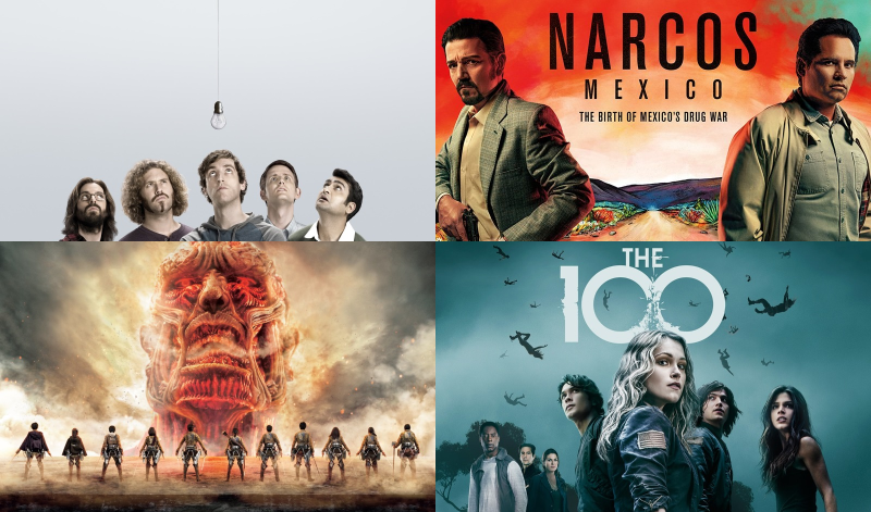 the 100 silicon valley attack on titan narcos mexico