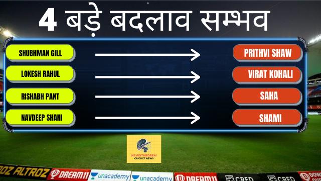 IND vs AUS, 2nd Test, team changed