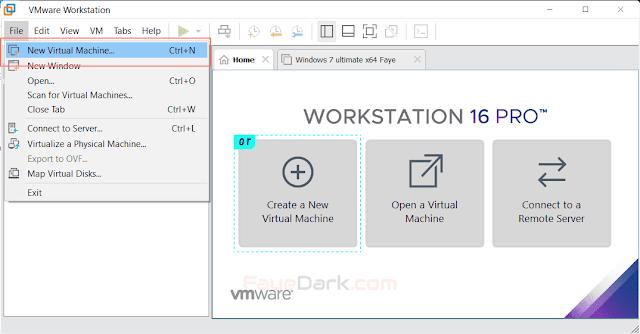 New Virtual Machine or Create Virtual Machine
