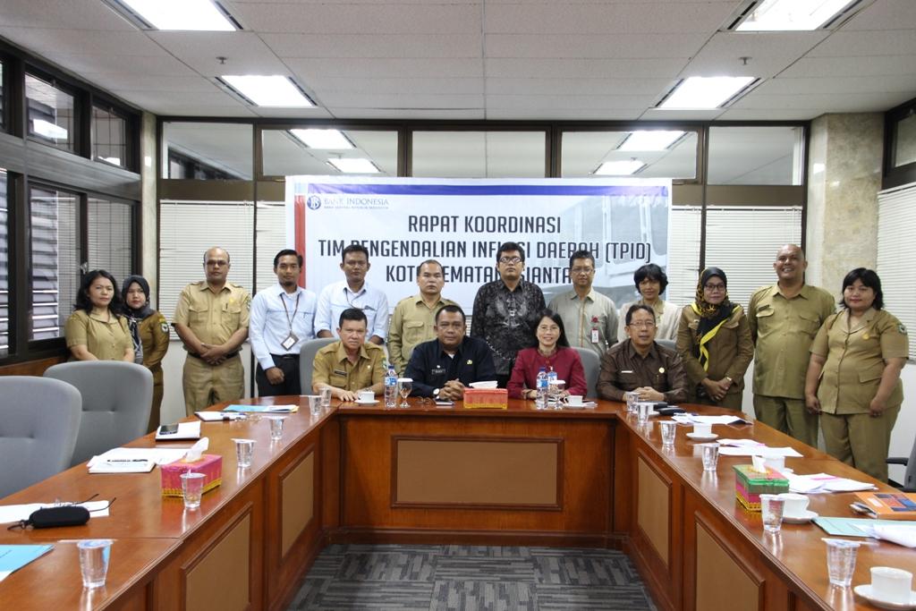 Tim Pengendalian Inflasi Daerah P.Siantar Gelar Rapat di Aula Bank Indonesia
