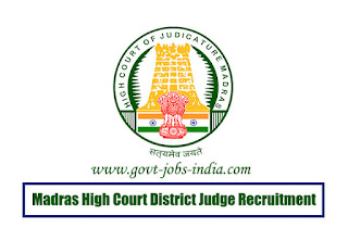 Madras High Court District Judge Recruitment