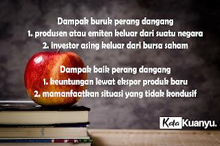Dampak baik dan buruk perang dagang terhadap bursa saham indonesia