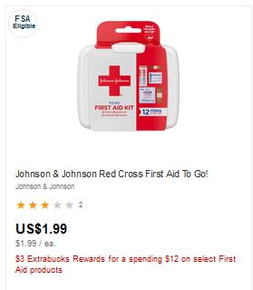 Johnson & Johnson First Aid To Go