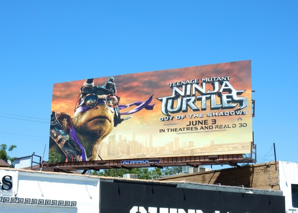 Ninja Turtles Out of the Shadows Donatello billboard