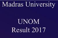 Madras University Exam Result 2016 - 2017 Nov/Dec Exam