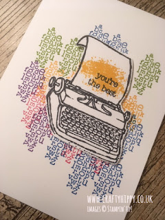 Rainbow typewriter handmade card made with the PS. You're The Best stamp set by Stampin' Up!