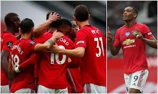Vedio: Manchester United 5 - 2 Bournemouth Bruno Fernandes scores brilliant free.