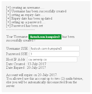Akun SSH Premium Server Canada